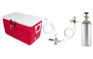 Beer Keg Draft Box with Co2 Tank