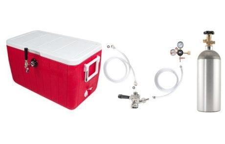 Beer Keg Draft Box with Co2 Tank